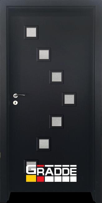 Интериорна HDF врата, модел Gradde Zwinger, Орех Рибейра