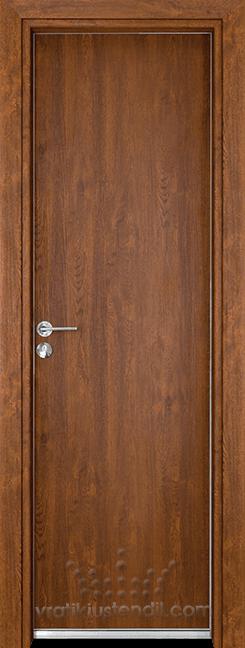 Алуминиева врата за баня – Gama цвят Златен дъб